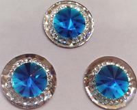 Стразы пришивные SPKK01-15mm (голубой) Цена за 30 шт
