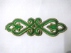 Аппликация вензель 1889-18 (3502) (зеленый) Цена за 20шт.