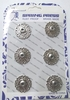 Кнопки декоративные KPDM21-42 (серебро)
