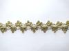 Тесьма декоративная 5176-80 (зеленое золото)