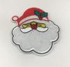 Аппликации Дед Мороз AK191-1 (белый) Цена за 10 шт