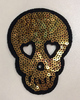 Аппликации череп AK70-41 (золото) Цена за 2 шт
